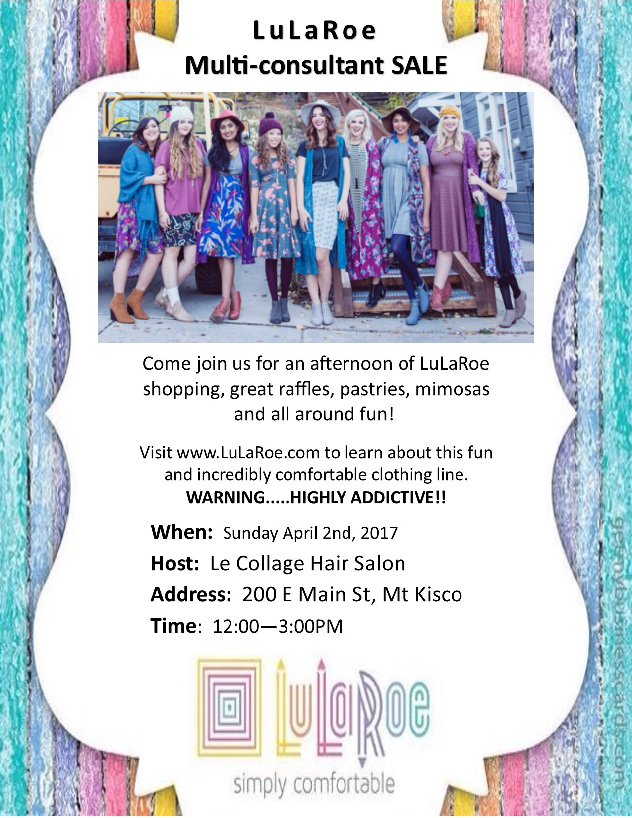 Lularoe Multi Consultant Sale At Le Collage Sunday April 2nd